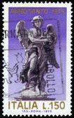 Anjo, estátua por giovanni bernini na ponte dos anjos, em roma — Fotografia Stock