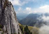 Sten cliff i schweiziska Alperna — Stockfoto