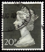 Stamp Queen Elizabeth II with diamond tiara — Stock Photo