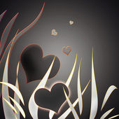 Stylized heart in dark colors — Photo