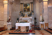 Altar in the church of the first miracle — Stock Photo