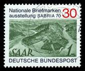 View of Saar River near Mettlach , Germany — Stock Photo