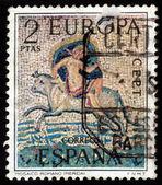 Abduction of Europa, Roman Mosaic — Stock Photo