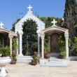 Stock Photo: Courtyard in church of Jesus' first miracle , Kefar Cana, Israel