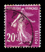Marianne sowing, symbolizes France — Stock Photo