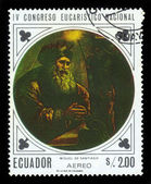 Portrait of Miguel de Santiago, ecuadorian artist — Stock Photo