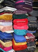 Rotoli di tessuti colorati — Foto Stock