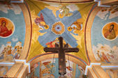 Frescoes on the ceiling in Greek Orthodox Church — Stock Photo