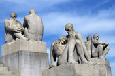 Sculptures of old and males in Vigeland park , Oslo — Stock Photo