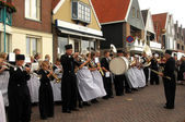 Folk orchestra of wind instruments in village of Volendam, Netherlands — ストック写真