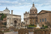 Ancient ruins of the Roman Forum — Stock Photo