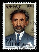 Emperor of Ethiopia Haile Selassie, gray — Stock Photo