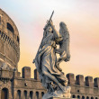 Angel on guard of Rome - Stock Photo