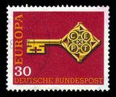 Chiave con emblema cept europa — Foto Stock