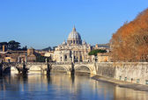 View at Vatican City and Sant'Angelo's Bridge — ストック写真