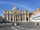 Magnificent facade of the basilica of St. Peter — Stock Photo