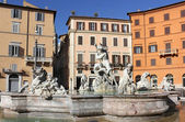Fountain of Neptune (Poseidon) at Piazza Navona in Rome — Stock Photo