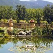 Royalty-Free Stock Photo: Pond in the Lourmarin Castle ( chateau de lourmarin )