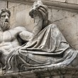 Statue of Tiber for Palazzo Senatorio, Rome — Stock Photo