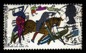Battle of Hastings from Bayeux Tapestry — Stock Photo