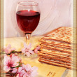 Spring holiday of Passover and its attributes - Stok fotoğraf