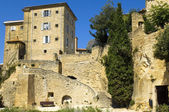 Houses built on rocks, region of Luberon, France — Stock Photo