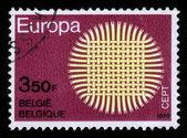 太陽、cept のシンボルの形で織り — ストック写真