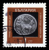 Ancient bulgarian coins, 6th century BC, coin of Thrace — Foto de Stock