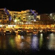 Night view on hotels in popular resort  - Eilat of Israel - Stock Photo