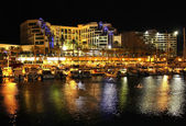 Night view on hotels in popular resort - Eilat of Israel — Stock Photo