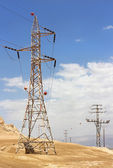 High voltage electric transmission line — Stock Photo