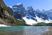 Lake agnes, nationalpark, banff alberta, kanada — Stockfoto