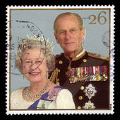 Queen Elizabeth II and Duke of Edinburgh Prince Philip — Stock Photo