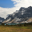 Canadian Rocky Mountains and glacial lake — Stock Photo