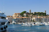 Harbour and marina at Cannes — Stock Photo