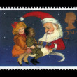 Stock Photo: Children and Father Christmas