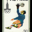 Soccer goalkeeper. Olympic games in Moscow 1980 — 图库照片