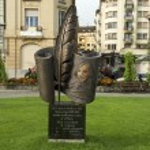 Постер, плакат: Monument of Nikolai Gogol by Anatolii Valiev Vevey Switzerland