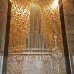 edificio di stato Impero - murale Hall — Foto Stock