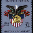 Coat of arms of  the US military Academy at West Point — Stock Photo