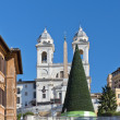 Spanish Steps in Rome before Christmas — Stock Photo