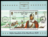 Captain Myles Standish of the Mayflower — Stock Photo