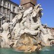 Fountain of the Four Rivers in Navona Square — Stock Photo