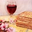 Cheerful spring festival of Passover and its attributes — Stock Photo