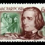 Franz liszt, maďarský hudební skladatel — Stock fotografie