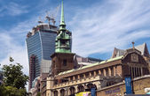 Old and new towers of London — Stock Photo