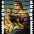 Painting by artist Raphael, Madonna and Child — Stock Photo