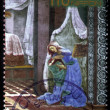 Fragment of the picture Sandro Botticelli Annunciation — Stock Photo
