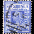 Old australian stamp - Queen Victoria — Stock Photo