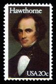 Nathaniel Hawthorne, american novelist — Stock Photo